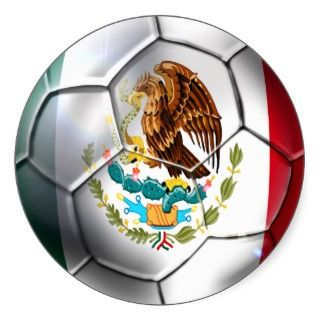 Mexico el Tri soccer ball Mexican flag gear Round Stickers