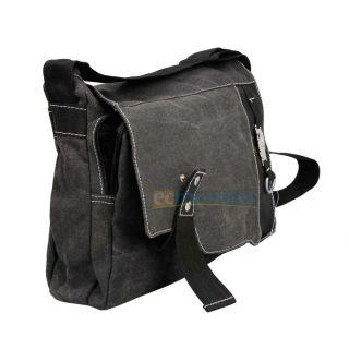 Design Eye Catching Men Canvas Shoulder Messenger Bag Black