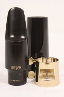 Meyer Hard Rubber Alto Saxophone Mouthpiece 5 Medium 886830045615