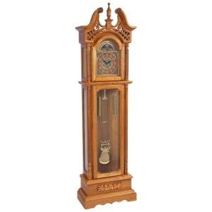 Edward Meyer Oak Grandfather Clock with Beveled Glass Hhgfcoak
