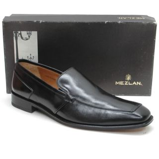New NIB MEZLAN 1438 Made in Spain Black Square Toe Dress LOAFERS SHOES