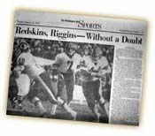 WASHINGTON REDSKINS #1 GAME SUPER BOWL HAND SIGNED TEAM FOOTBALL 49