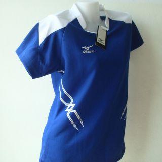 Mizuno Womens Volleyball Jersey Shirt Blue XL