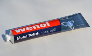 Wenol Ultra Soft Metal Polish 100ml 4oz Blue Tube Made in Germany Fast