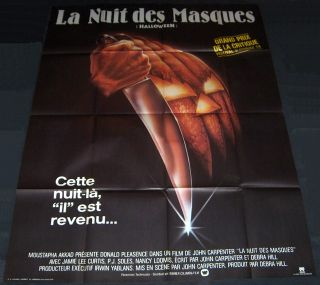1978 Halloween Original Huge Poster John Carpenter