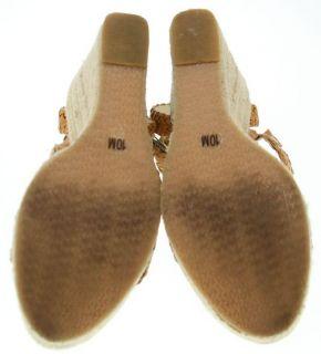 Michael Michael Kors Tan Leather Espadrille Wedges 10M