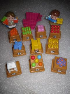Fisher Price Little People Market Mercado English Spanish +10 Foods