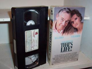 Thats Life 1986 VHS Julie Andrews Jack Lemmon