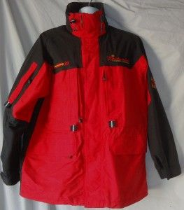 Mens Red Black Michael Andretti 39 Jacket Hidden Hood Medium
