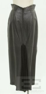 Michael Hoban for North Beach Leather Black Leather Maxi Skirt Size 11