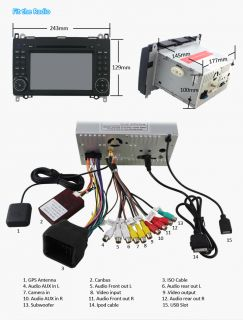 Car GPS DVD Player BT Ipod F/Mercedes Benz Viano Vito Class W169 W245