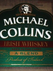 Michael Collins Irish Whiskey Bar Mirror Framed Large Size 27x21 Vtg