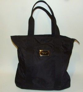 Michael Kors Nylon Black Tote Bag Carryall Handbag Purse