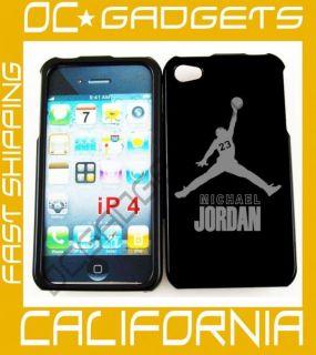 Michael Jordan Air Black Cover Case iPhone 4 Verizon