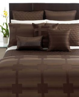 Hotel Collection Meridian Sepia Full Queen Duvet Cover