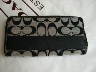 Coach Signature Stripe Zip Accordian Wallet 45798