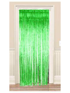 Irish St Patricks Day Party Green Shimmer Door Curtain