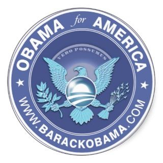 Obama For America Logo Round Sticker