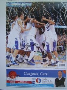 Signed MKG Michael Kidd Gilchrist Kentucky Wildcats NCAA Champs Poster