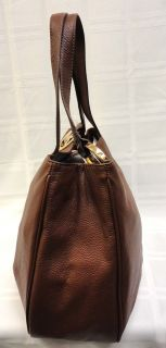 Authentic Michael Kors Brown Soft Leather Fulton Shoulder Bag MSRP $