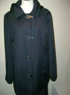 Michael Kors Black Missy Hooded Clip Coat XL $160