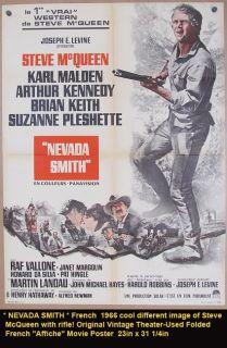 Nevada Smith Movie Poster 1966 Steve McQueen California Gold Western
