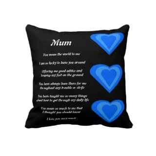 Mothers Poem pillow