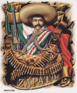 Mexican Sticker Auto Decal Set Zapata Viva La Raza