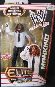 Elite Collection Series 17 Mankind Mick Foley Mask and Mr Socko