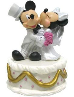 Disney Mickey Minnie Mouse Musical Wedding Figure