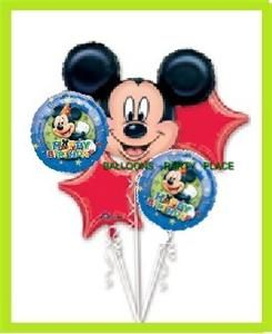 Disney Mickey Mouse Birthday Stars Party Balloons Mylar