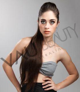 DIY Micro Bead Human Hair Extensions Set 50 strands   20 inch DARK