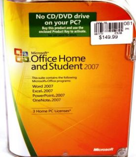 Microsoft Office 2010 Home and Student Product Key Card 79G02020 by