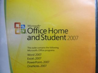 Genuine Microsoft Office Home Student 2007 Full Version with Key COA