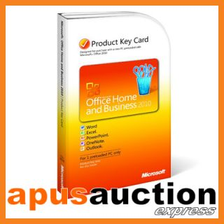 MS Office Home and Business 2010 PKC Version Product Key Card New PC