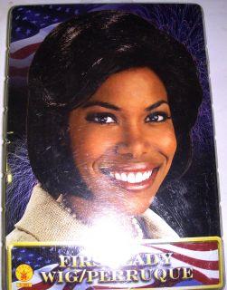Michelle Obama First Lady Black Wig Costume Adult NIP