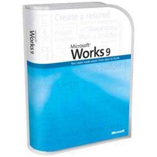 Microsoft Works 9 Retail Box Brand New Full Version Word Processor 9 0