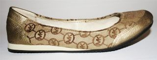 Womens Shoes Michael Kors MK City Flat Monogram Slip on Jacquard