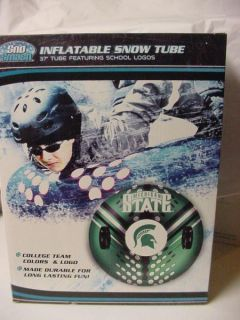Michigan State Spartans Sparty Snow Tube Sled 37 Inflatable New