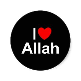 Love (Heart) Allah Stickers