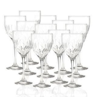 Mikasa Arctic Lights Modern Crystal Wine Glasses 12