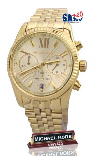 Michael Kors MK5556 Lexington Gold Tone Dial Metal Band Women Watch