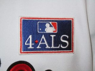 Mike Lowell Boston Red Sox Authentic White Home Jersey with 4 ALS