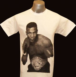 Mike Tyson Boxing White T Shirt Size s M L XL