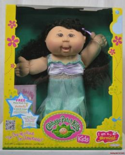 Cabbage Patch Kids I Am A Mermaid Paris Mika 1 12 Black Hair Brown Eye
