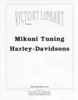 Mikuni Tuning for Older Harley Davidson Indian Twins
