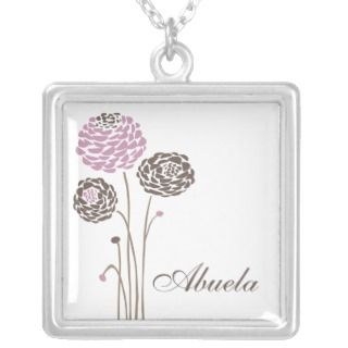 Abuela Necklace Stylish Dahlia Flowers