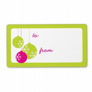 Retro Modern Holiday Ornaments Christmas Gift Tags Personalized