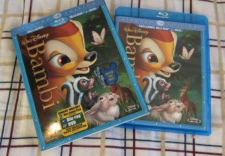 Bambi Blu Ray DVD 2011 2 Disc Set Diamond Edition US