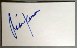 Mike Keenan Chicago Blackhawks Signed NHL Hockey Index Card